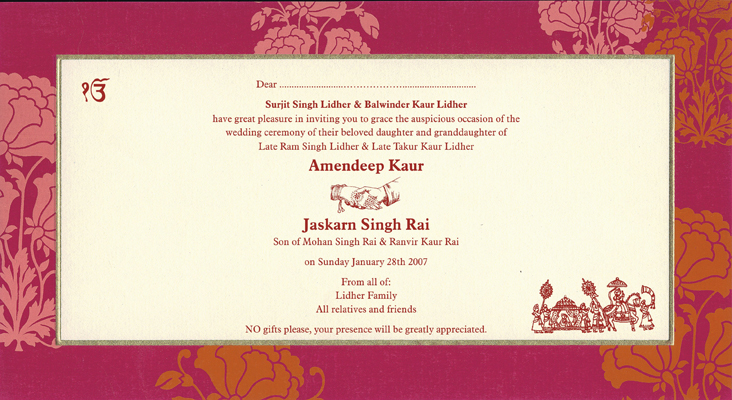 Indian Wedding Invitation Message: Indian Wedding Invitation Wording