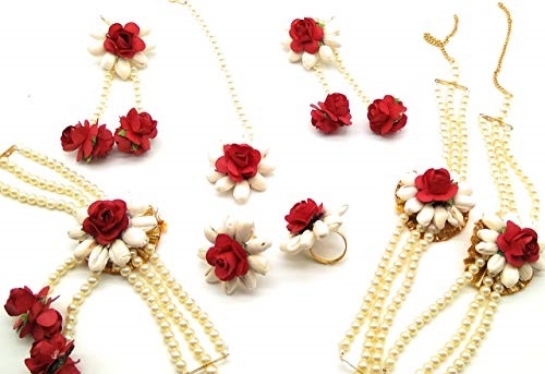 flower jewellery for haldi online shopping